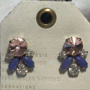 NWT SORRELLI stud earrings pink purple white post